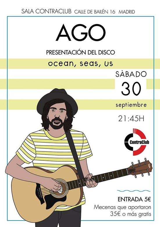 Cartel del concierto de AGO