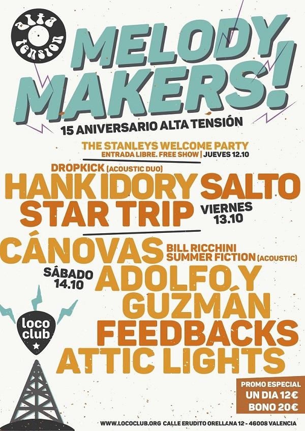 Cartel del Melody Makers 2017 en Valencia
