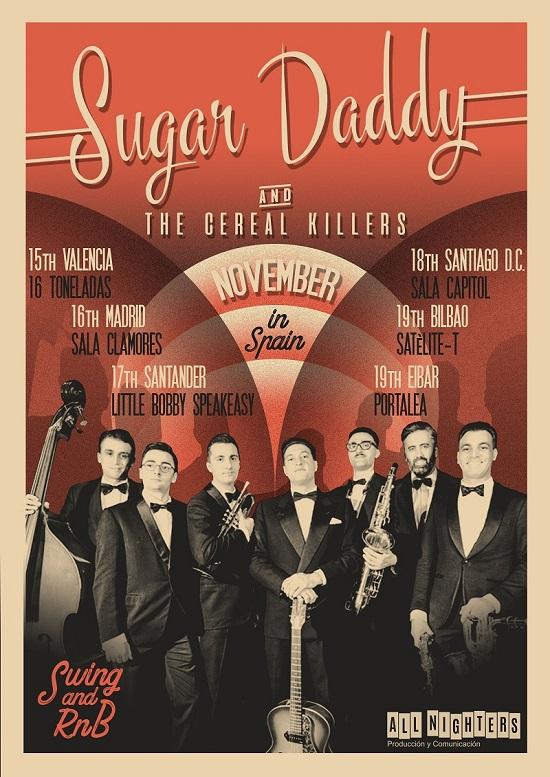 Cartel de la gira de Sugar Daddy and the Cereal Killers