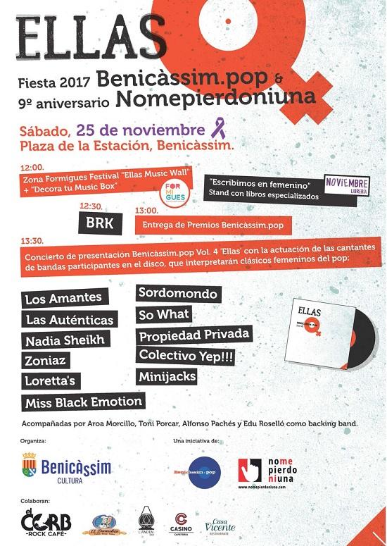 Cartel presentación Benicàssim Pop