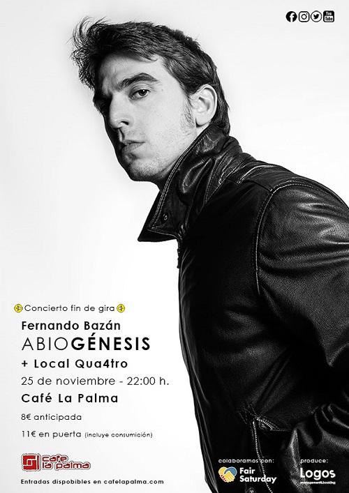 Cartel de fin de gira de Fernando Bazán