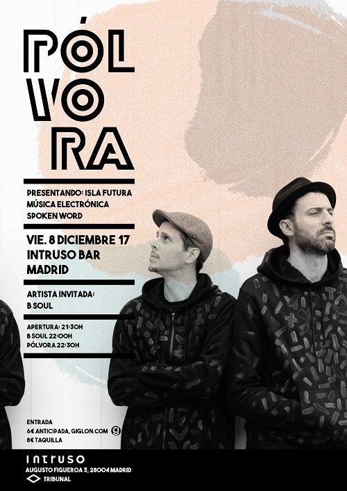 Cartel del concierto de presentación de Pólvora