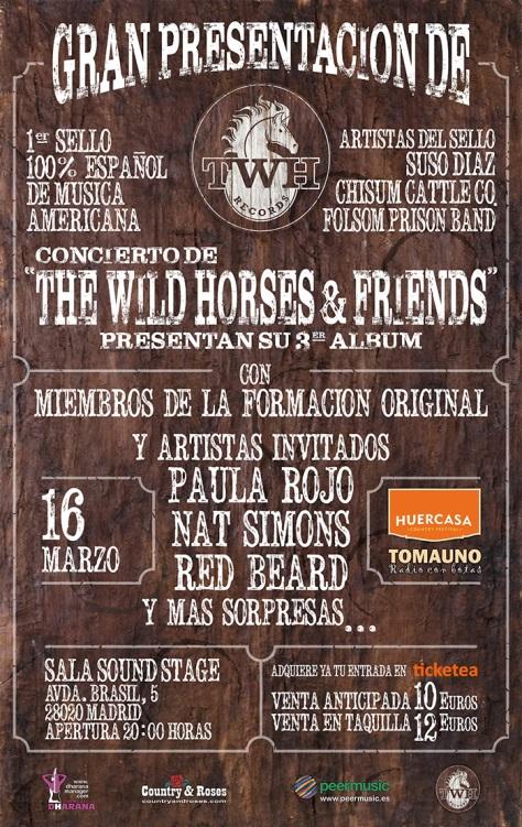 Cartel de la presentación de TWH Records