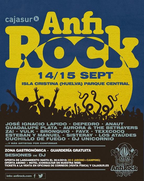 Cartel del Anfi Rock 2018