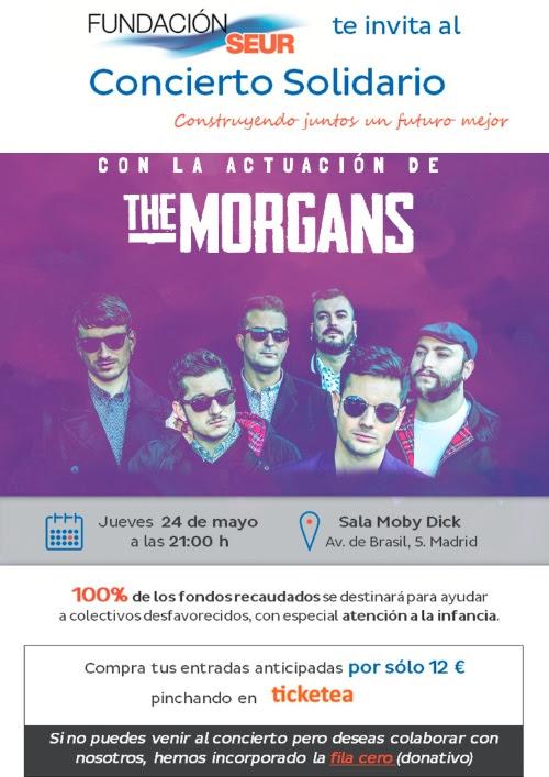 Cartel del concierto solidario de The Morgans