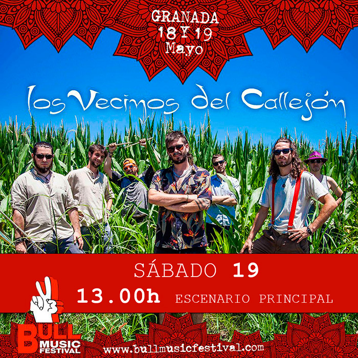 Cartel de los Vecinos del Callejón en el Bull Music