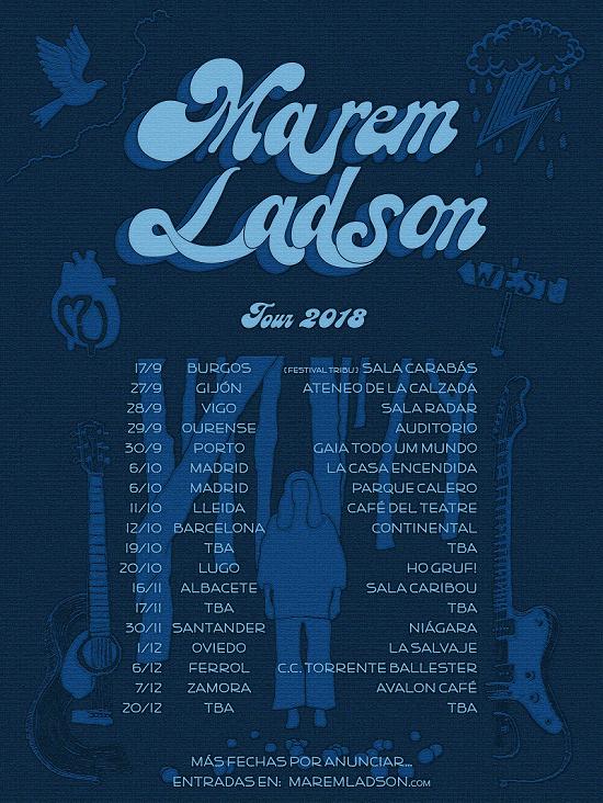 Cartel de la gira de Marem Ladson