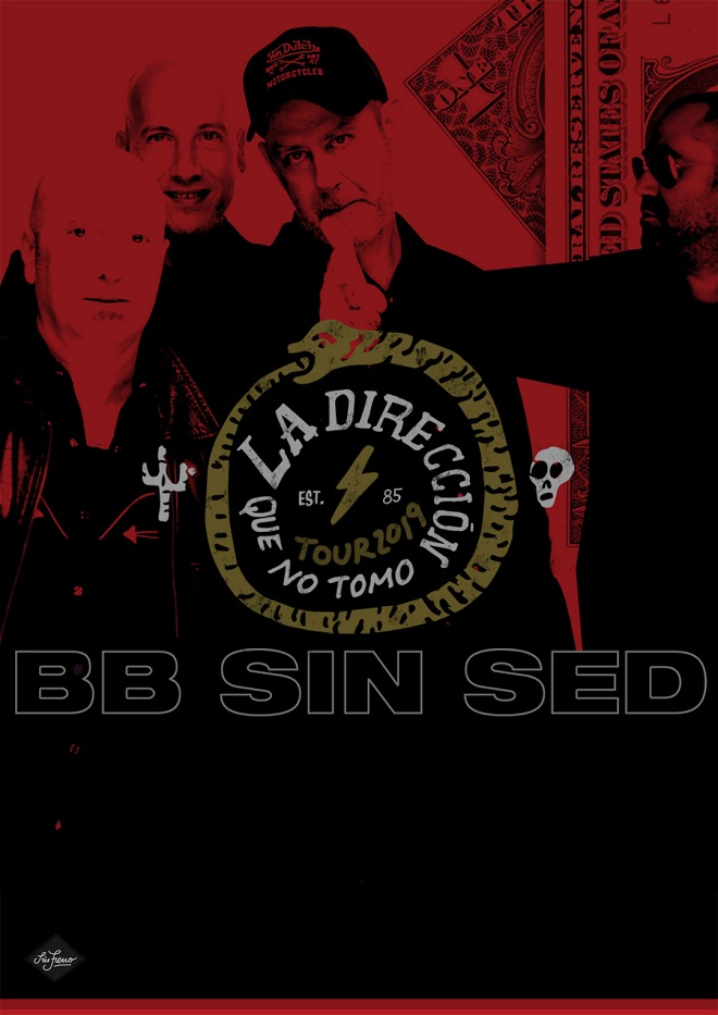 cartel gira BB Sin Sed