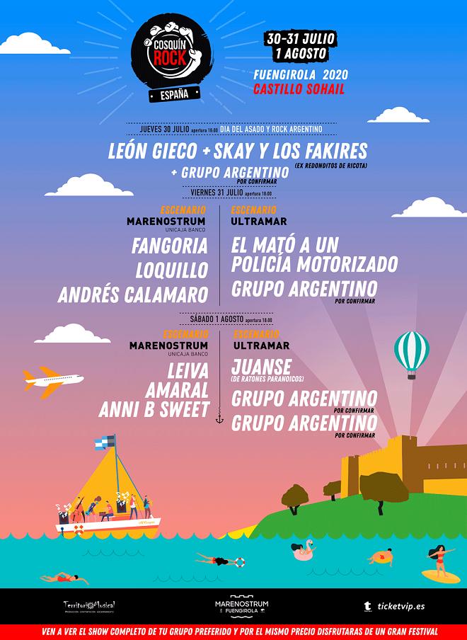 Cartel Cosquín Rock 2020