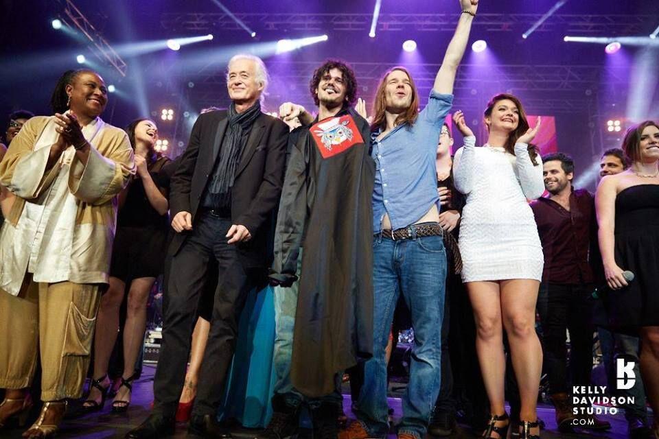 Bluhauz con Jimmy Page