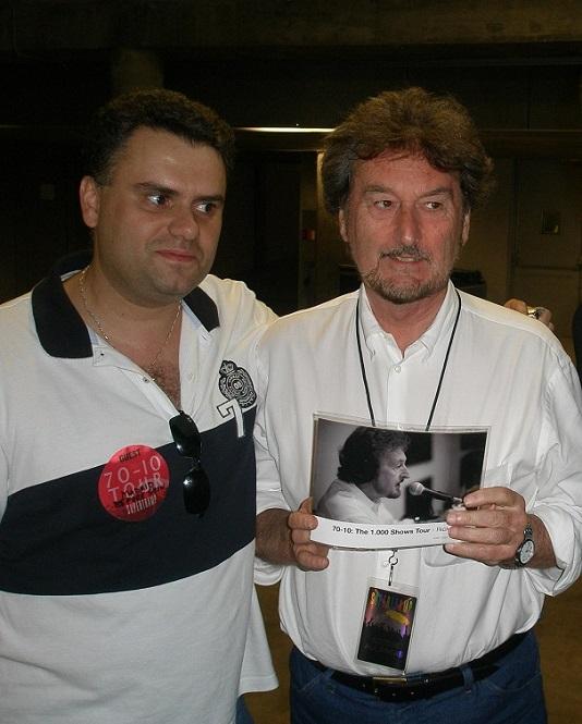 Abel con Rick Davies, de Supertramp