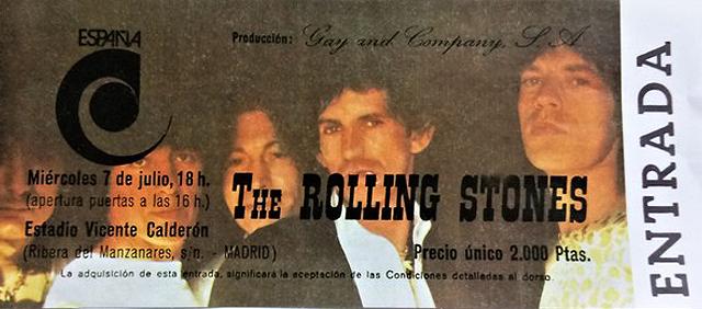 Rolling Stones entrada