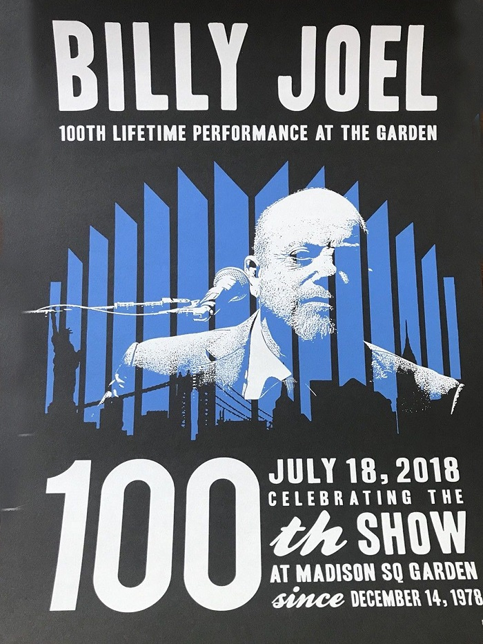 Billy Joel MSG100 cartel