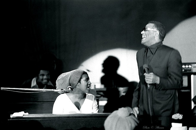 Aretha Franklin con Ray Charles