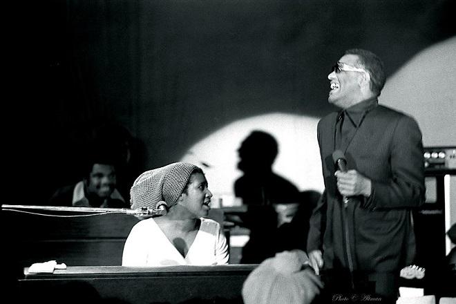 Aretha Franklin con Ray Charles