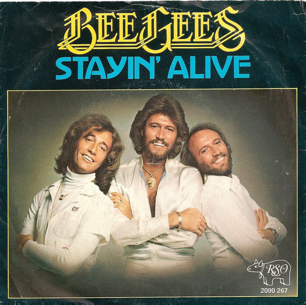 Bee Gees Stayin' alive portada